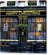The Happy Christmas Pub Canvas Print