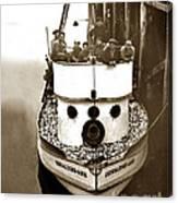 The Happy Crew Of The Fishing Boat  Geraldine- Ann Monterey California 1939 Canvas Print