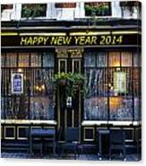 The Happy New Year 2014 Pub Canvas Print