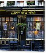 The Happy New Year Pub Canvas Print