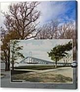 The Harbor At Ft. Greene In Newport Ri Canvas Print