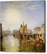 The Harbor Of Dieppe Canvas Print