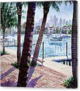 The Harbor Palms Canvas Print