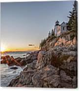 The Harbor Sunset Canvas Print