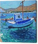 The Harbor  Tinos Canvas Print