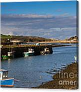 The Harbour At Hayle Cornwall Canvas Print