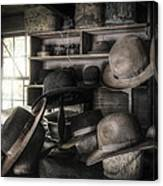 The Hatters Shop - 19th Century Hatter Canvas Print
