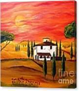 The Heat Of Tuscany Canvas Print