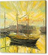 The Heraklion Harbour Canvas Print