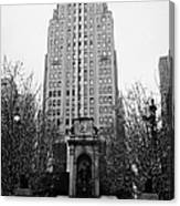 The Herald Square Building In The Rain Herald Square Broadway And 6th Avenue New York City Nyc Canvas Print
