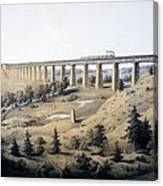 The High Bridge Near Farmville, Prince Canvas Print