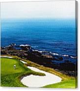 The Hole 7 At Pebble Beach Golf Links Canvas Print