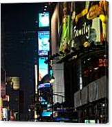 The Holidays In Time Square Canvas Print