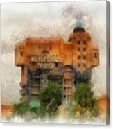 The Hollywood Tower Hotel Disneyland Photo Art 01 Canvas Print