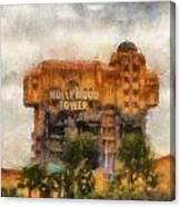 The Hollywood Tower Hotel Disneyland Photo Art 02 Canvas Print