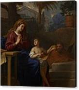 The Holy Family In Egypt Canvas Print