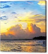 The Honeymoon - Sunset Art By Sharon Cummings Canvas Print