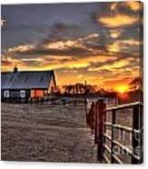 The Horse Barn Sunset Canvas Print