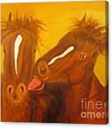 The Horse Kiss - Original Oil Painting Canvas Print