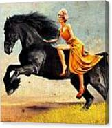 The Horsewoman Canvas Print