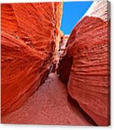 The Hourglass - Half Past Three - Southwest Slot Canyon Canvas Print