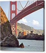 The House Below The Golden Gate Bridge Canvas Print