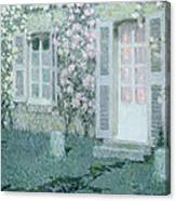 The House With Roses Canvas Print