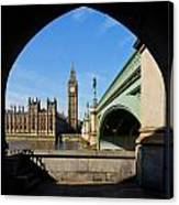 The Houses Of Parliament In London Canvas Print