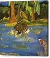 The Hunting Of The Bear Canvas Print