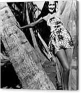 The Hurricane, Dorothy Lamour, 1937 Canvas Print