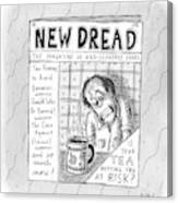 The Image Is The Front Cover Of New Dread: Canvas Print