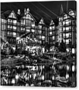 The Inn At Christmas Place Night Canvas Print