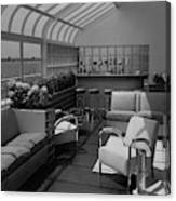 The Interior Of A Rooftop Terrace Canvas Print