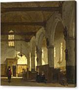 The Interior Of The Bakenesserkerk. Haarlem Canvas Print