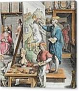 The Invention Of Oil Paint, Plate 15 Canvas Print