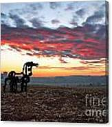 The Iron Horse Early Dawn The Iron Horse Collection Art Canvas Print