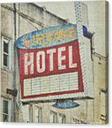 The Irving Hotel In Chicago Canvas Print