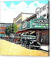 The Jackson Theatre In Jackson Hts. Queens N Y In 1930 Canvas Print