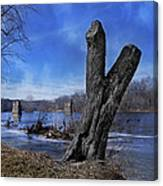 The James River One Canvas Print