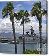 The Japanese Self Defense Force Ship Js Canvas Print