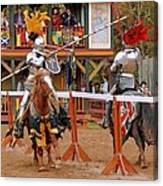 The Jousters 3 Canvas Print