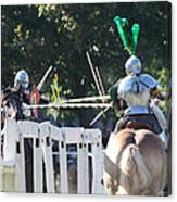 The Jousting Contest  Canvas Print