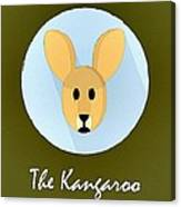 The Kangaroo Cute Portrait Canvas Print