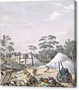 The Kapunda Copper Mine, From South Canvas Print