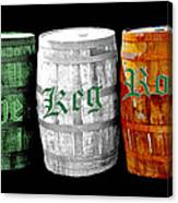 The Keg Room Irish Flag Colors Old English Hunter Green Wave Canvas Print