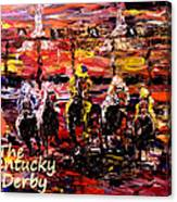 The Kentucky Derby - And They're Off Without Year  Canvas Print