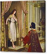 The King And The Beggar-maid Canvas Print