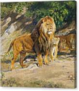 The King Watches Canvas Print