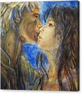The Kiss In Landscape Canvas Print