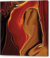 The Kiss In Red Canvas Print